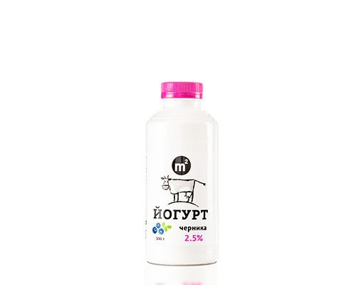 Йогурт питьевой 2,5% черника, 500 г