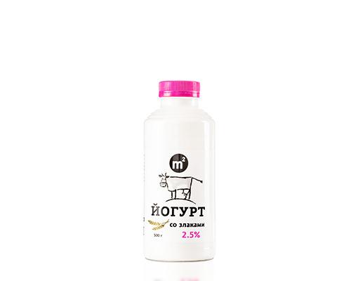 Йогурт питьевой 2,5% со злаками, 500 г