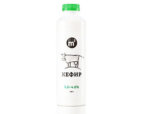 Кефир 3,2-4% из цельного молока, 750 г