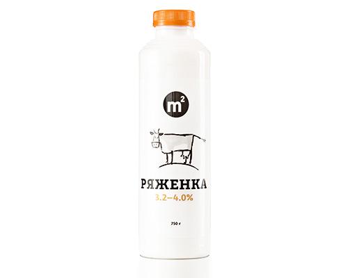 Ряженка 3,2-4,0% из цельного молока, 750 г