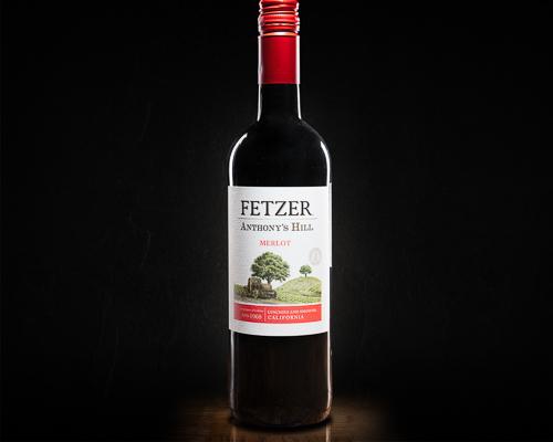 Fetzer anthony's hill merlot вино полусухое красное, 0,75 л