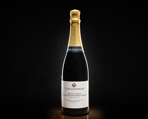 Clos lentiscus, greco di subur, blanc de blancs brut nature вино игристое экстра брют белое, 0,75 л