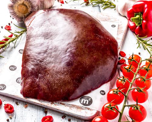 Печень говяжья шоковая заморозка