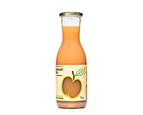 Сок яблочный прямого отжима, 1000 мл