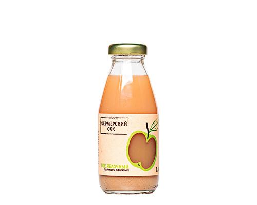 Сок яблочный прямого отжима, 300 мл