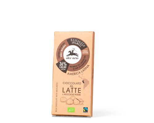 Шоколад молочный с лесным орехом, 100 г