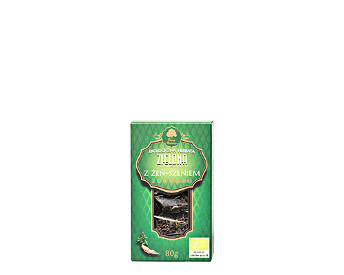 Чай зелёный с корнем женьшеня, 80 г