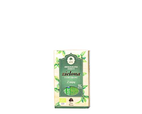 Чай зелёный с мятой, пакетированный, 50 г