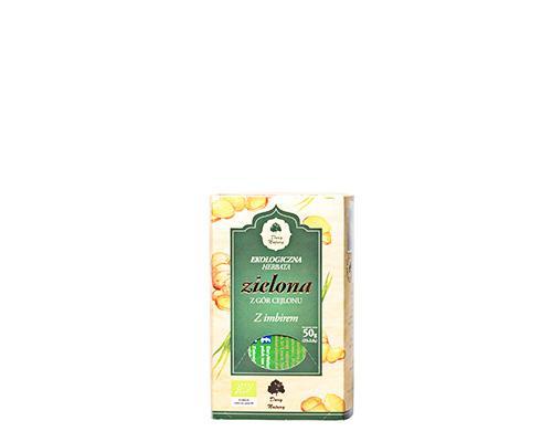 Чай зелёный с имбирем, пакетированный, 50 г