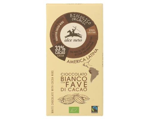 Шоколад белый с дроблеными зернами какао, 100 г