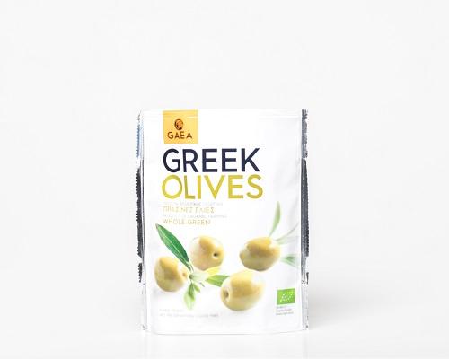 Оливки  зеленые, с косточкой, 150 г