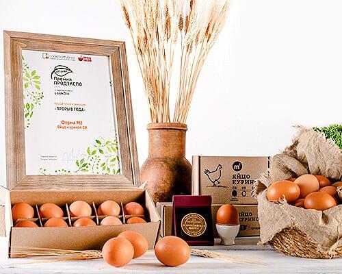 Яйцо куриное органическое, СВ, 6 шт