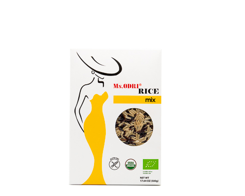 Рис бурый и черный нешлифованный, 500 г