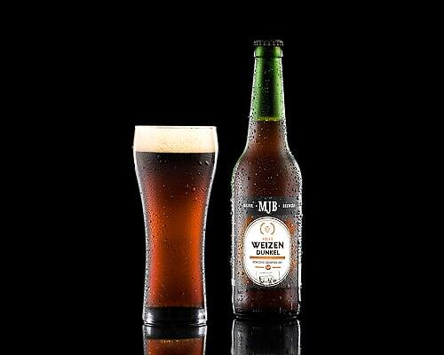 Пиво MJB Hefe Weizen Dunkel немецкий темный эль, 0,5 л
