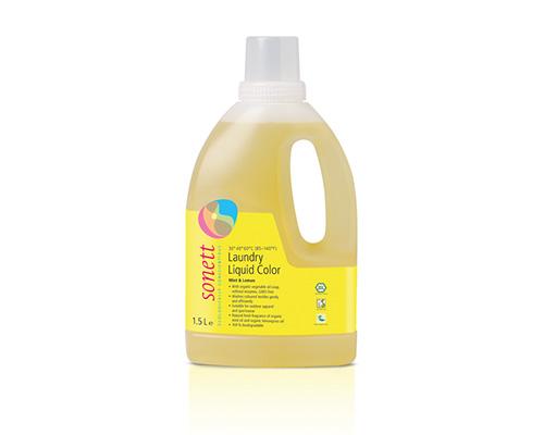 Средство для стирки жидкое для цветных тканей, мята и лимон, 1500 мл