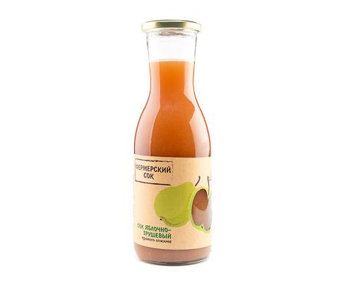 Сок яблочно-грушевый прямого отжима, 1000 мл