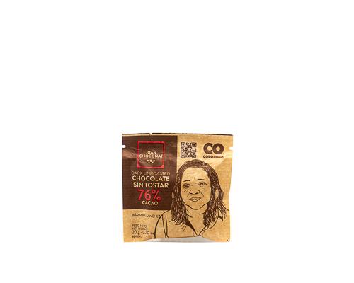 Шоколад темный 76%, из необжаренных какао-бобов, 20 г
