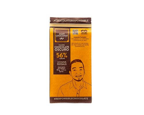 Шоколад темный 56%, с физалисом, 65 г