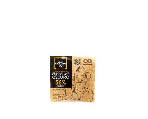 Шоколад темный 56%, с физалисом, 20 г