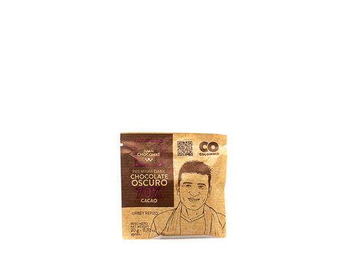 Шоколад темный 65-70%, 20 г