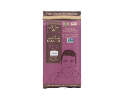 Шоколад темный с имбирем, 65 г