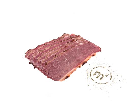 Брискет говяжий варено-копченый, в нарезке