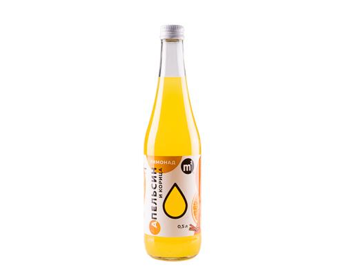 Лимонад Апельсин с корицей натуральный, 0,5 л