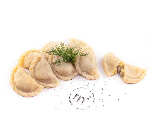 Вареники с картофелем и грибами замороженные, на развес