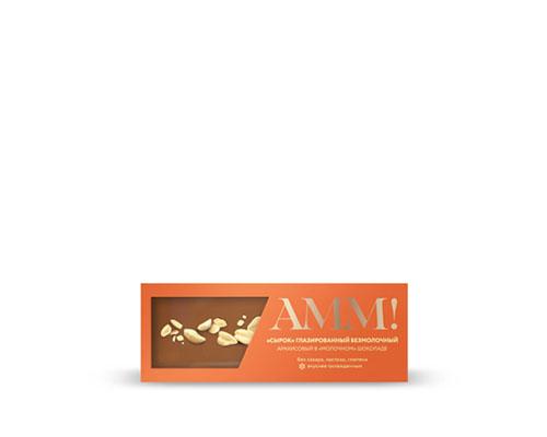 Сырок глазированный безмолочный, в шоколаде, с арахисом, 40 г