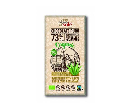 Шоколад темный с агавой, 73% какао, 100 г