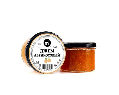 Джем абрикосовый из органических абрикосов, 200 г