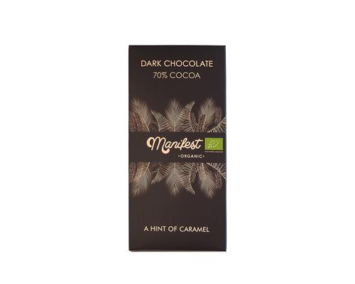 Шоколад горький на кокосовом сахаре, 70% какао, 70 г